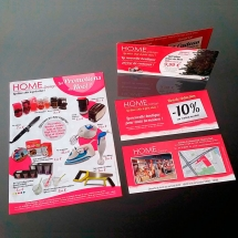 Création graphique flyers coupons marketing commerce proximité