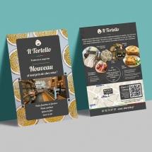 Création de flyers et publicité pour traiteur italien à paris