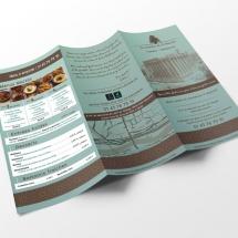 Flyer dépliant menu à emporter