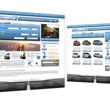 UI webdesign site location de véhicules