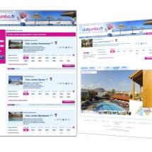 Intégration site web agence de voyage
